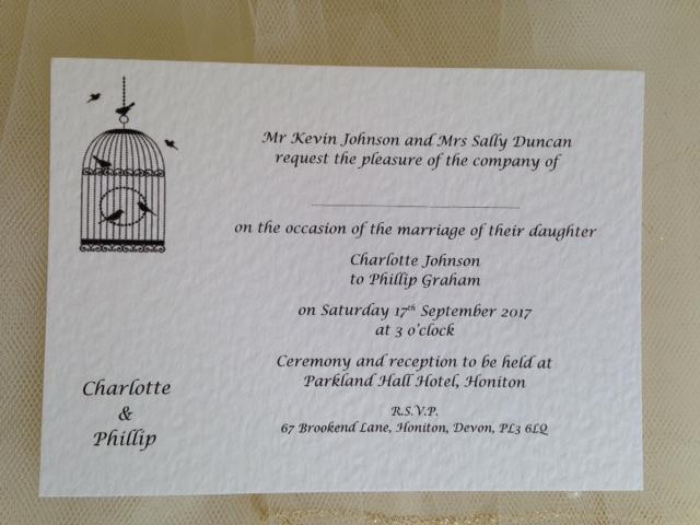 Wedding Invitations Birdcage: Vintage Birdcage Postcard Wedding Invitations