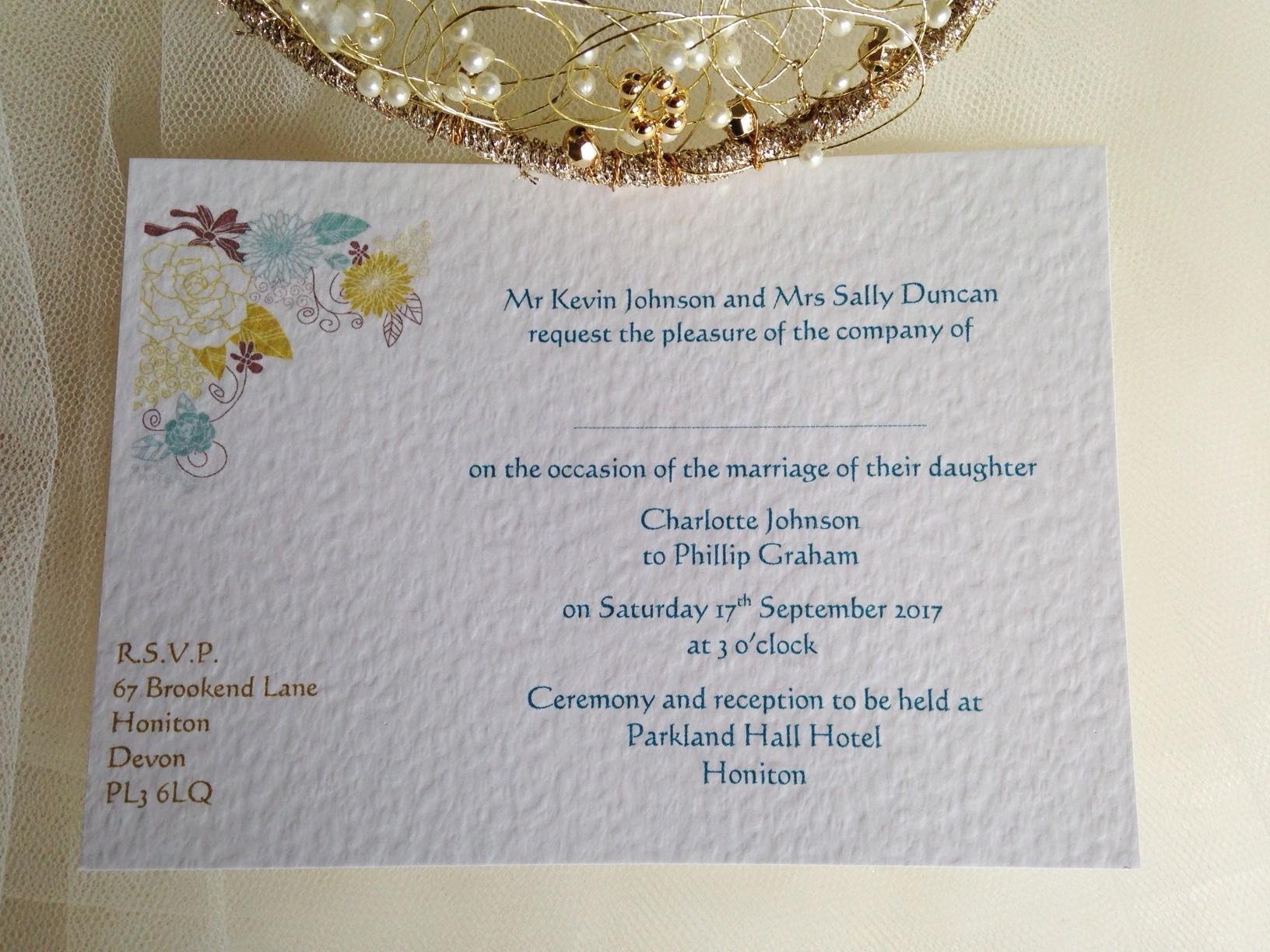 Postcard Wedding Invites: Blooms Postcard Wedding Invitations