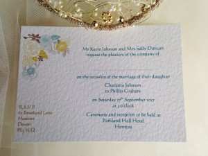 Blooms Postcard Wedding Invitations