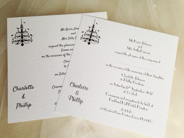 Chandelier Flat Square Wedding Invitations