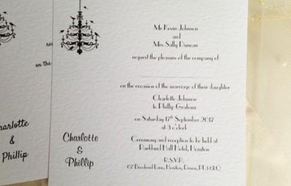 Chandelier Flat Square Wedding Invitations