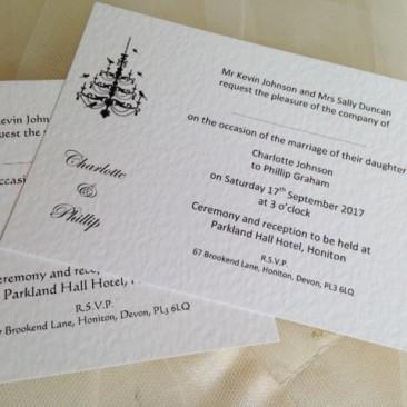 Chandelier Postcard Wedding Invitations
