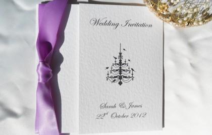 Chandelier Square Gatefold Wedding Invitations