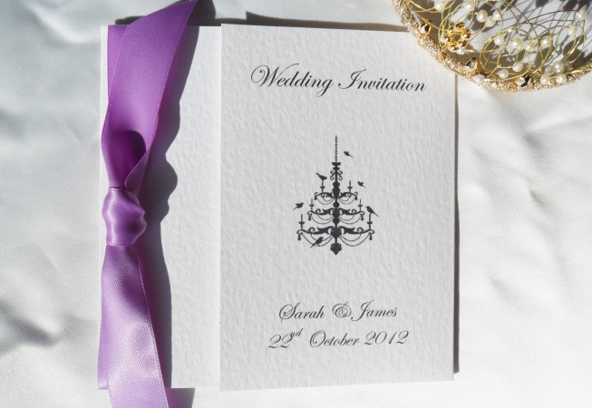 Chandelier Square Gatefold Wedding Invitations