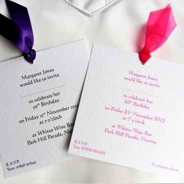 Chantilly Party Invites