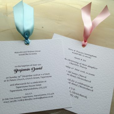 Chantilly Christening Invitations