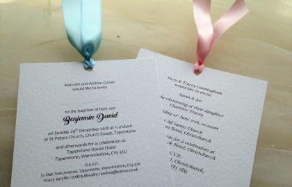 Chantilly Christening Invitations
