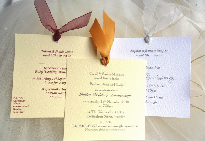 Chantilly Wedding Anniversary Invitations