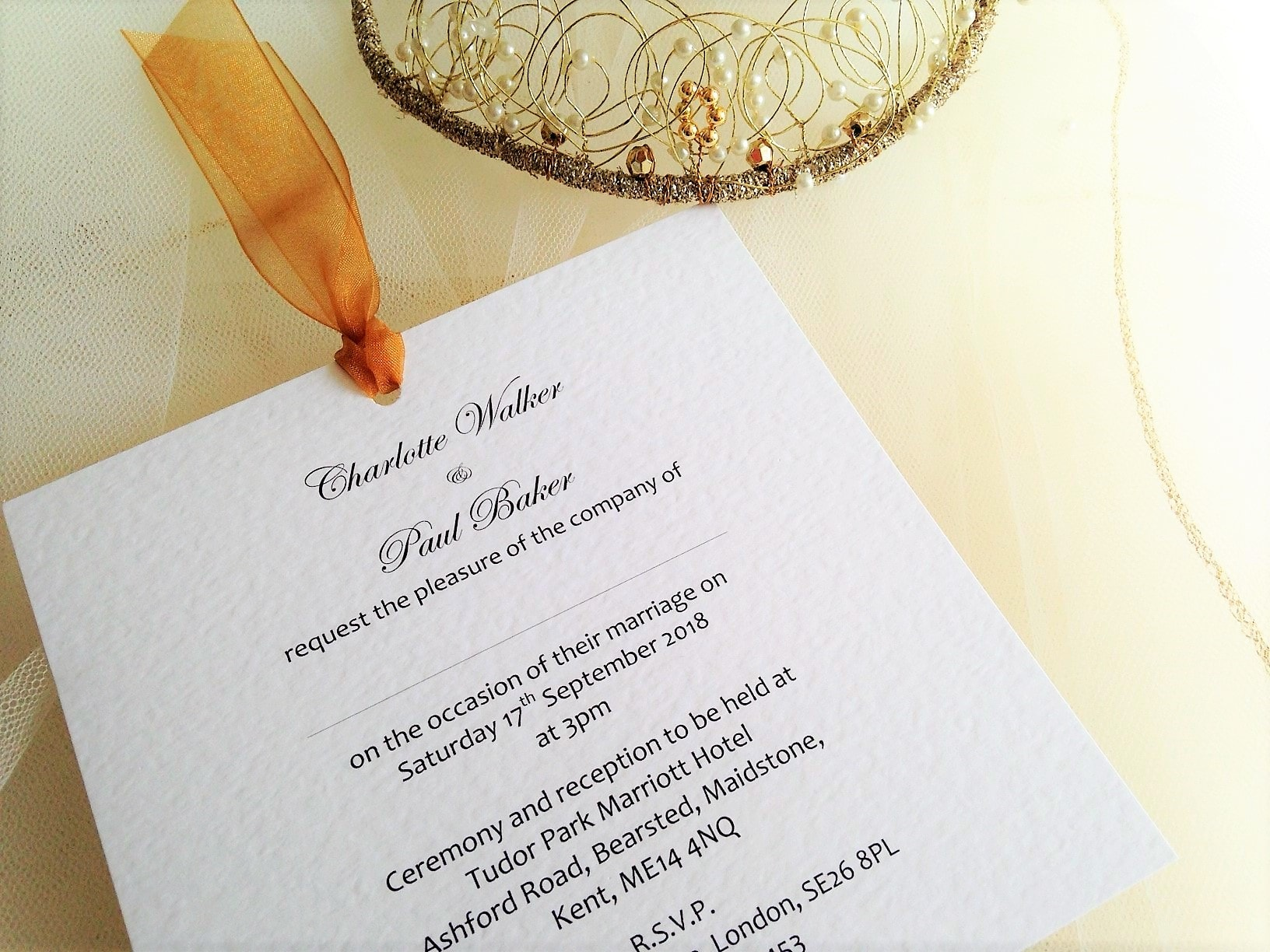 Chantilly Wedding Invites