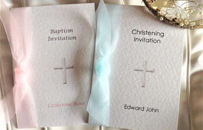 Crucifix Baptism Invitations