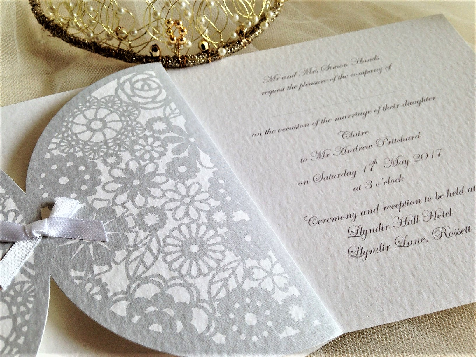 Decorative Sleeve Wedding invitations