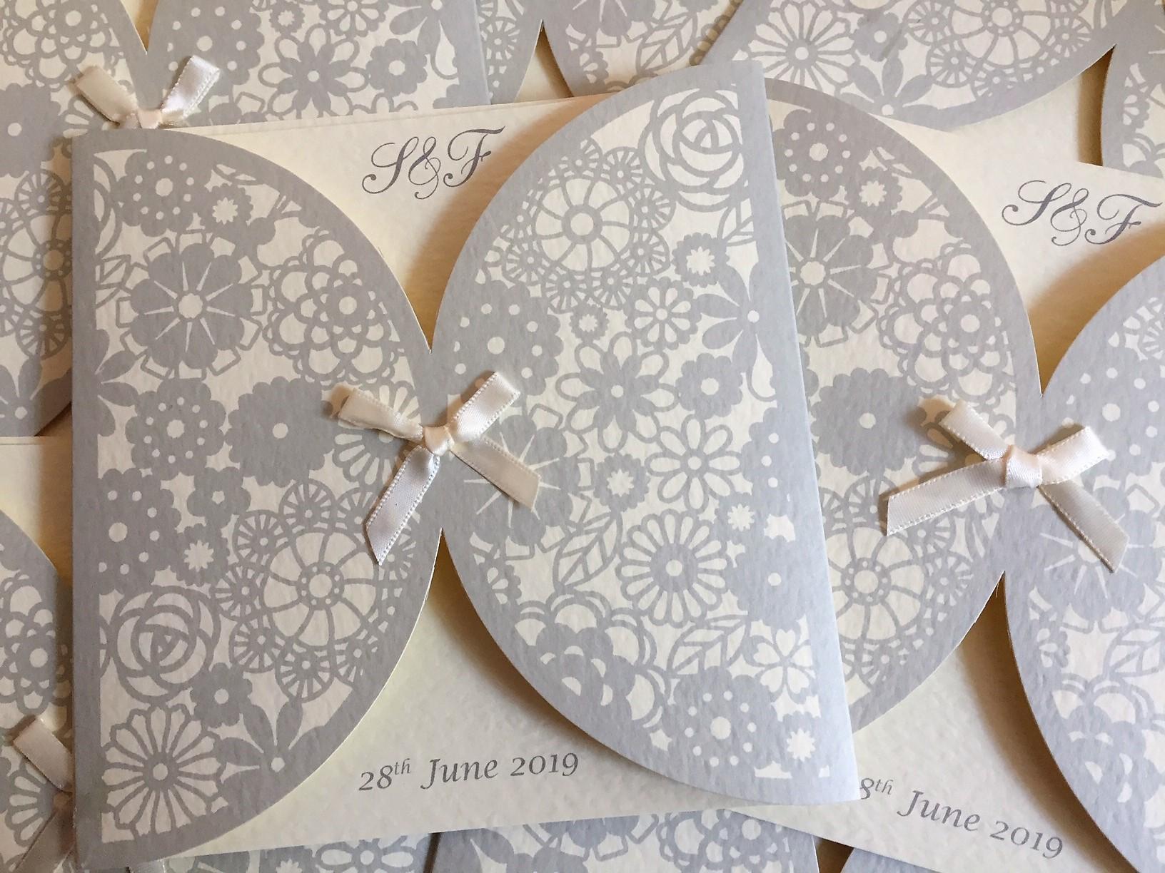 Decorative Sleeve Wedding Invitations