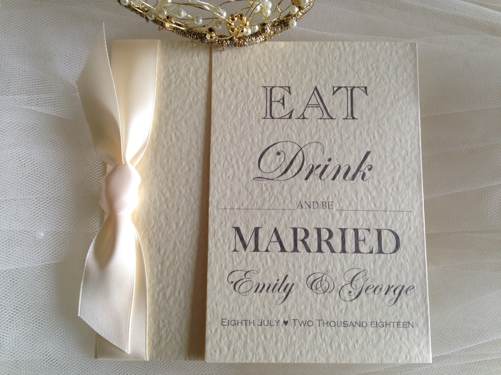 Eat, Drink And Be Married Square Gatefold Wedding Invitations · Facebook  Twitter Google+ Pinterest Tumblr