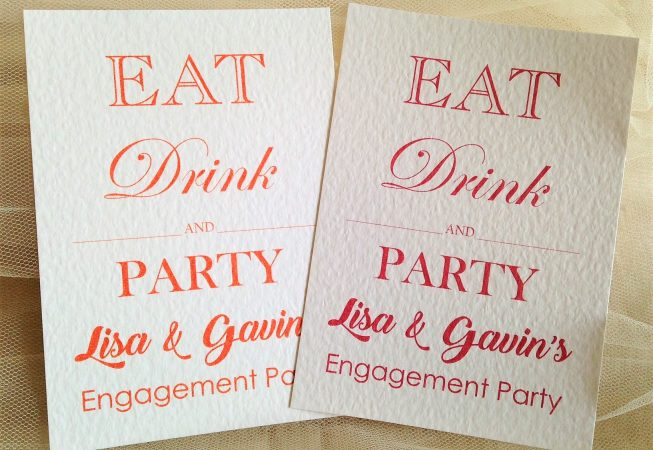 Eat Drink and Party Postcard Invitations