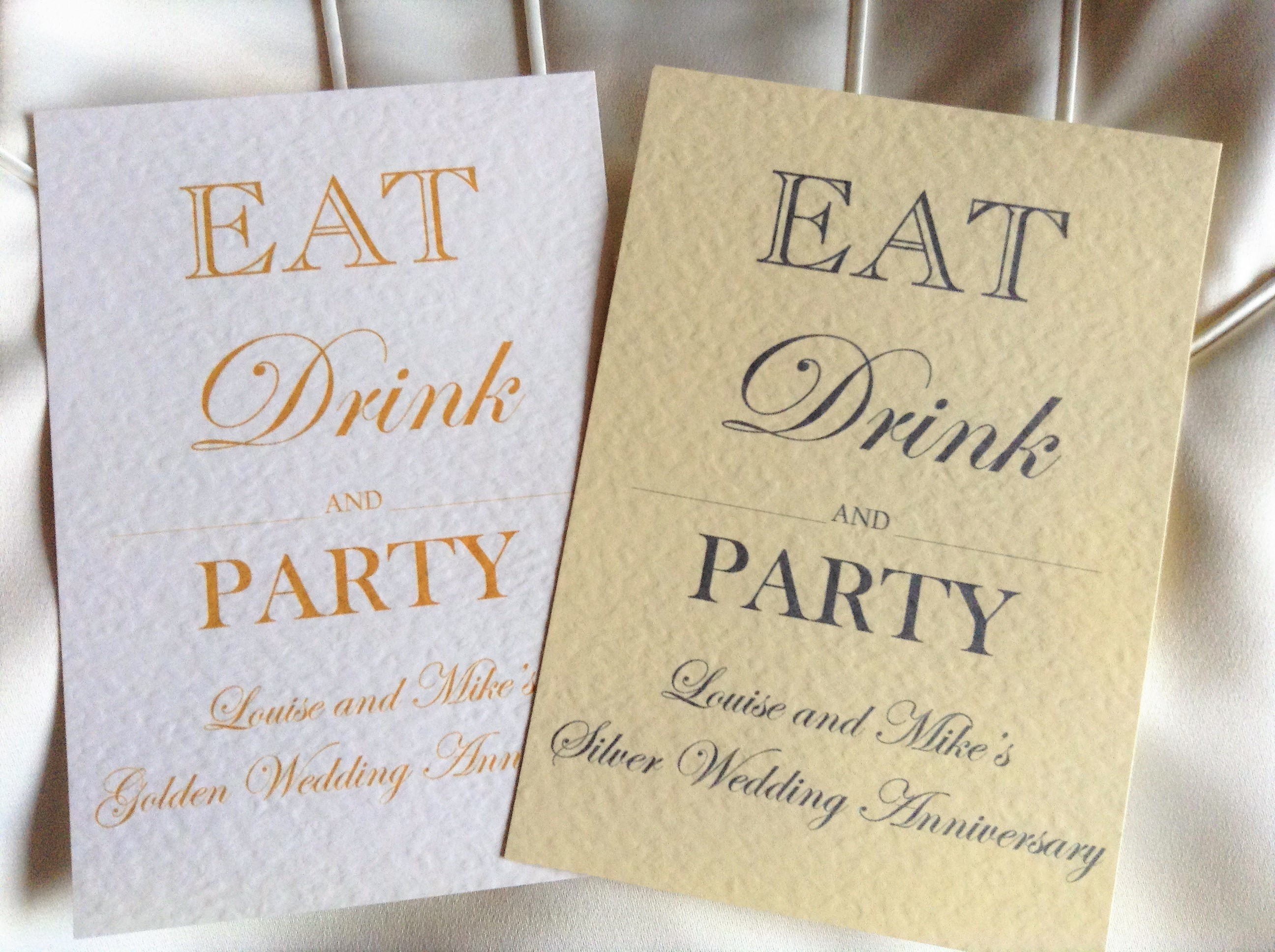 Eat drink and party wedding anniversary invitations - Wedding anniversary invitations ...