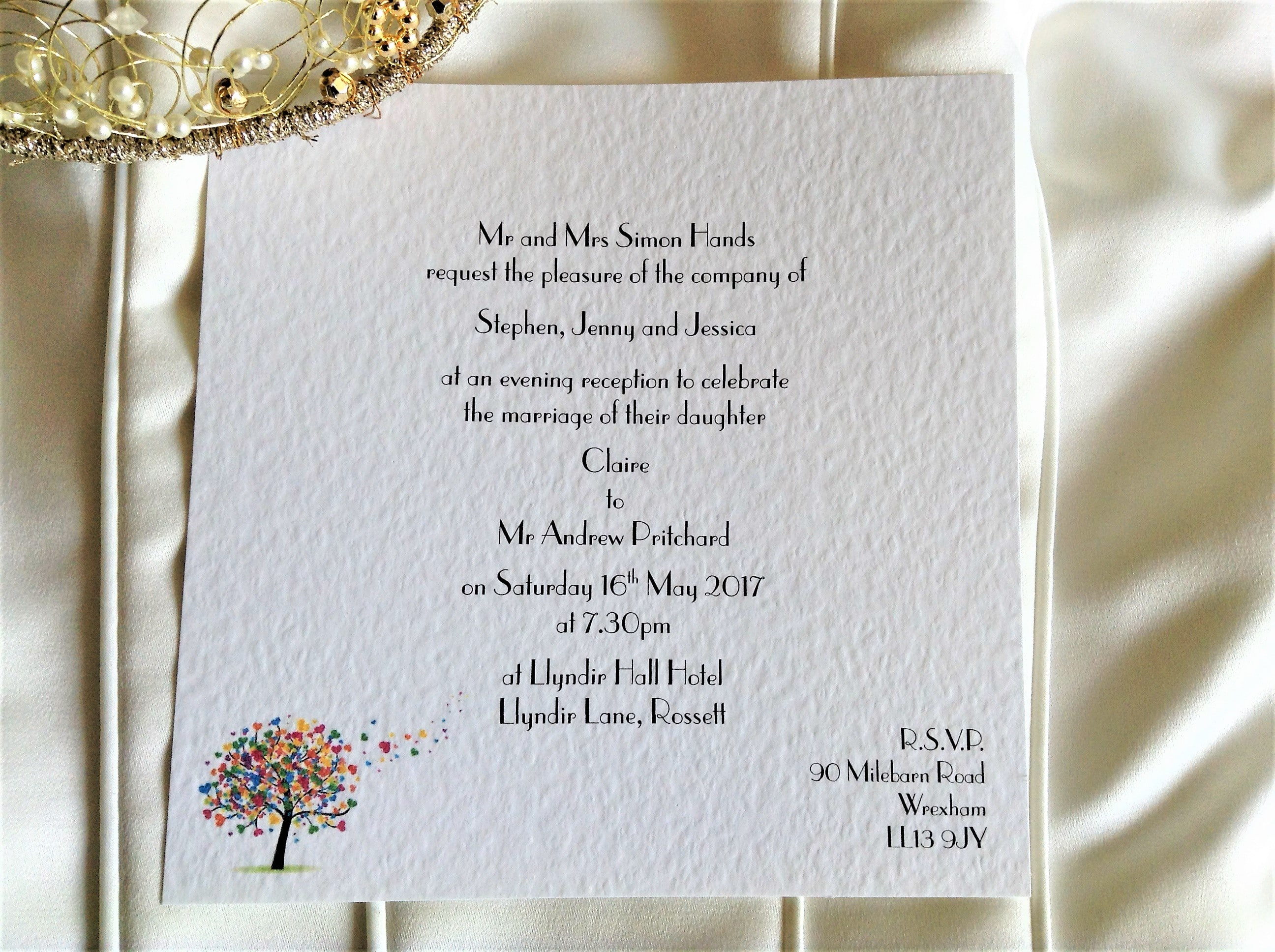 Love Tree Square Flat Wedding Invitations
