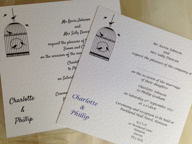 Vintage Birdcage Flat Square Wedding Invitations