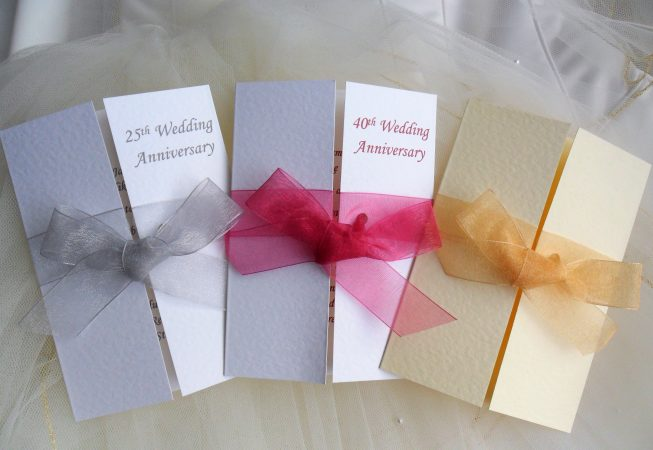 Gatefold Wedding Anniversary Invitations