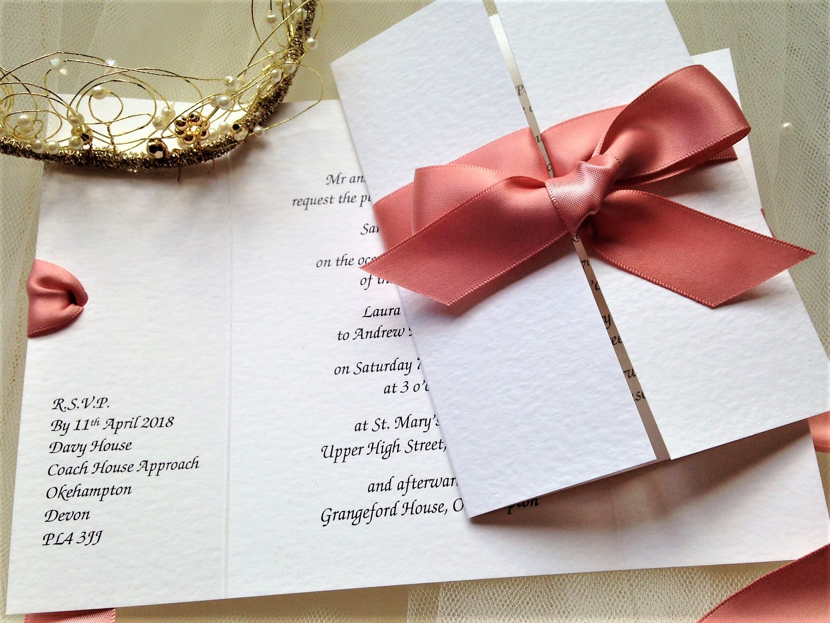 Beautiful Gatefold Wedding Invitations Elaboration - Invitations and ...