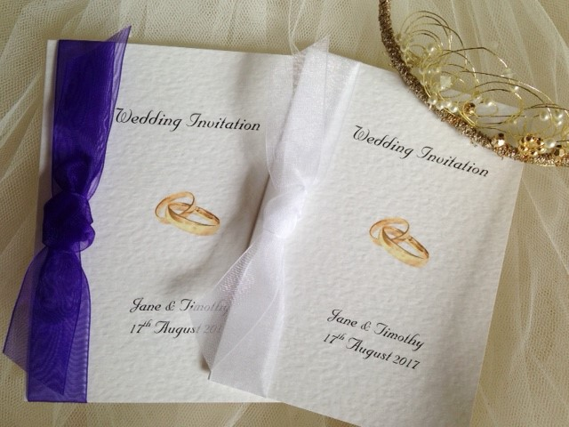 Wedding Rings Wedding Invitations
