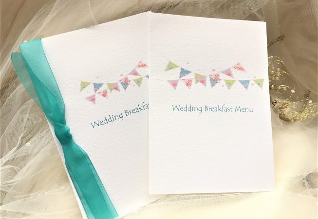 Summer Bunting Menu Booklets