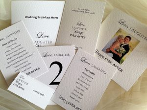 Love Laughter Happy Ever After Wedding Stationery
