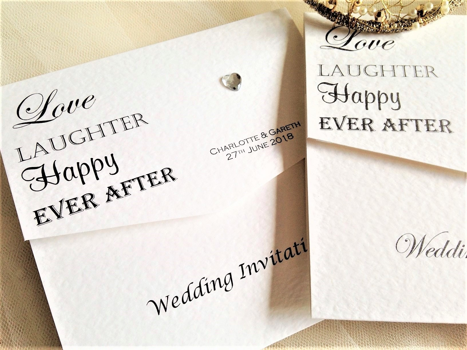 storybook wedding invitation ever after fairytale tri fold wedding