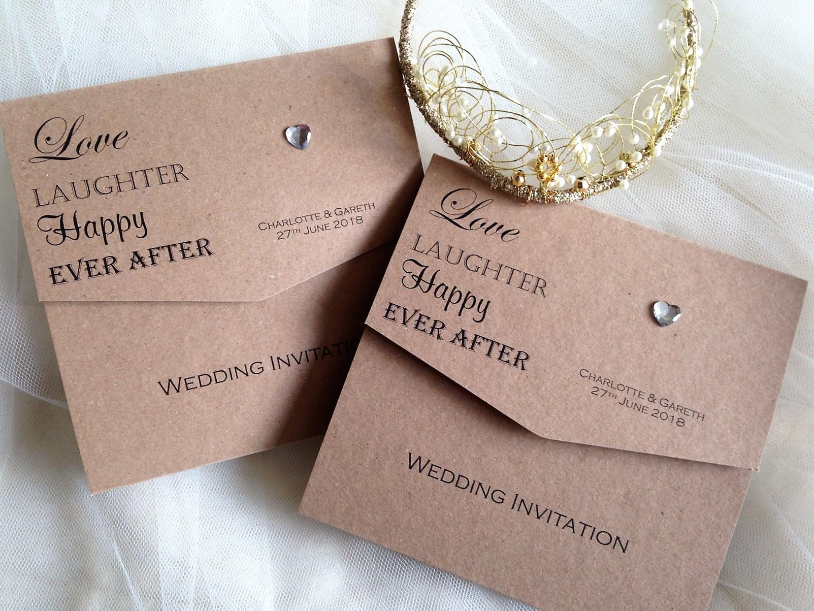 graceful love heart tri fold laser cut pocket wholesale wedding