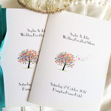 Love Tree Large A5 Menu Booklets