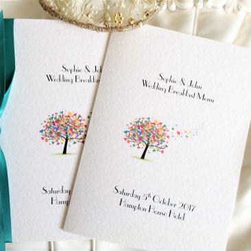 Love Tree Menu Booklets