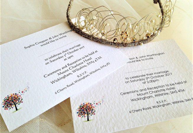 Love Tree Postcard Wedding Invitations