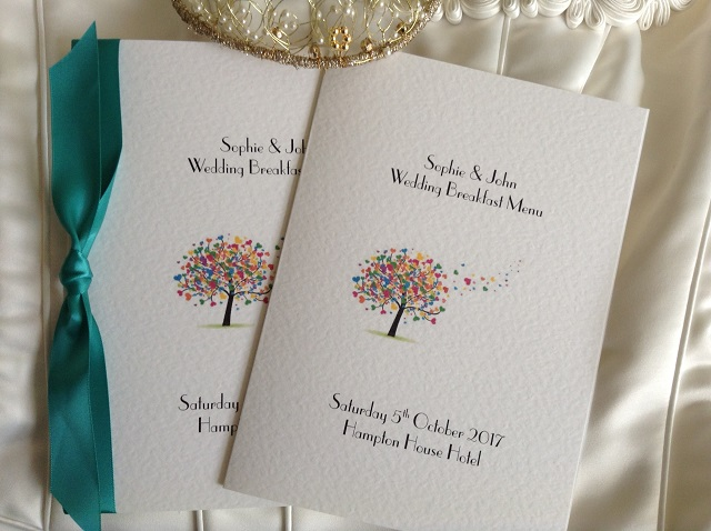 Love Tree Printed Menus