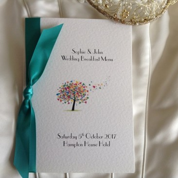 Love Tree Small A6 Menu Booklets