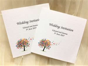 Love Tree Square Centre Fold Wedding Invitations