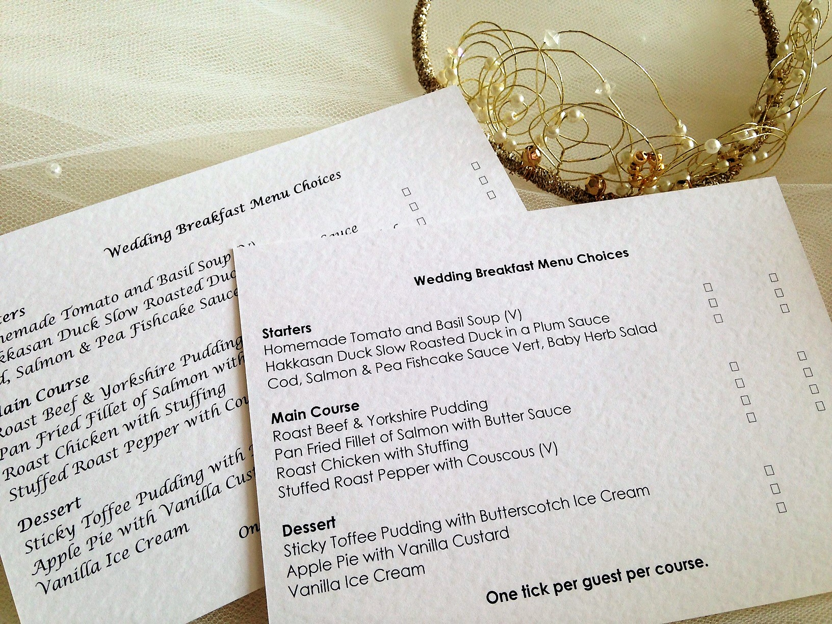 Menu rsvp cards and envelopes daisy chain invites menu rsvp cards and envelopes stopboris Image collections