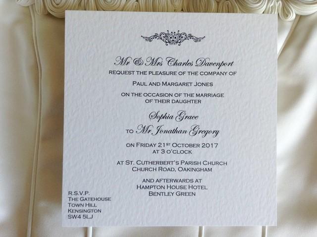 Motif Square Flat Wedding Invitations
