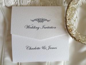Motif Tri Fold Wedding Invitations