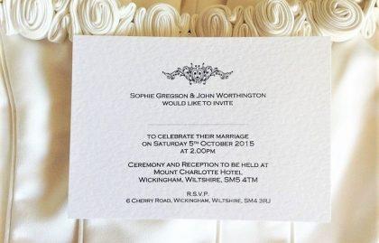 Motif Postcard Wedding Invitations