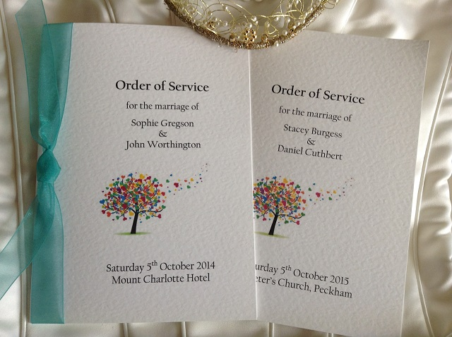 Wedding order of service books for Wedding ceremony order of service template free
