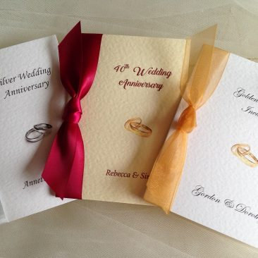 Rings Wedding Anniversary Invitations