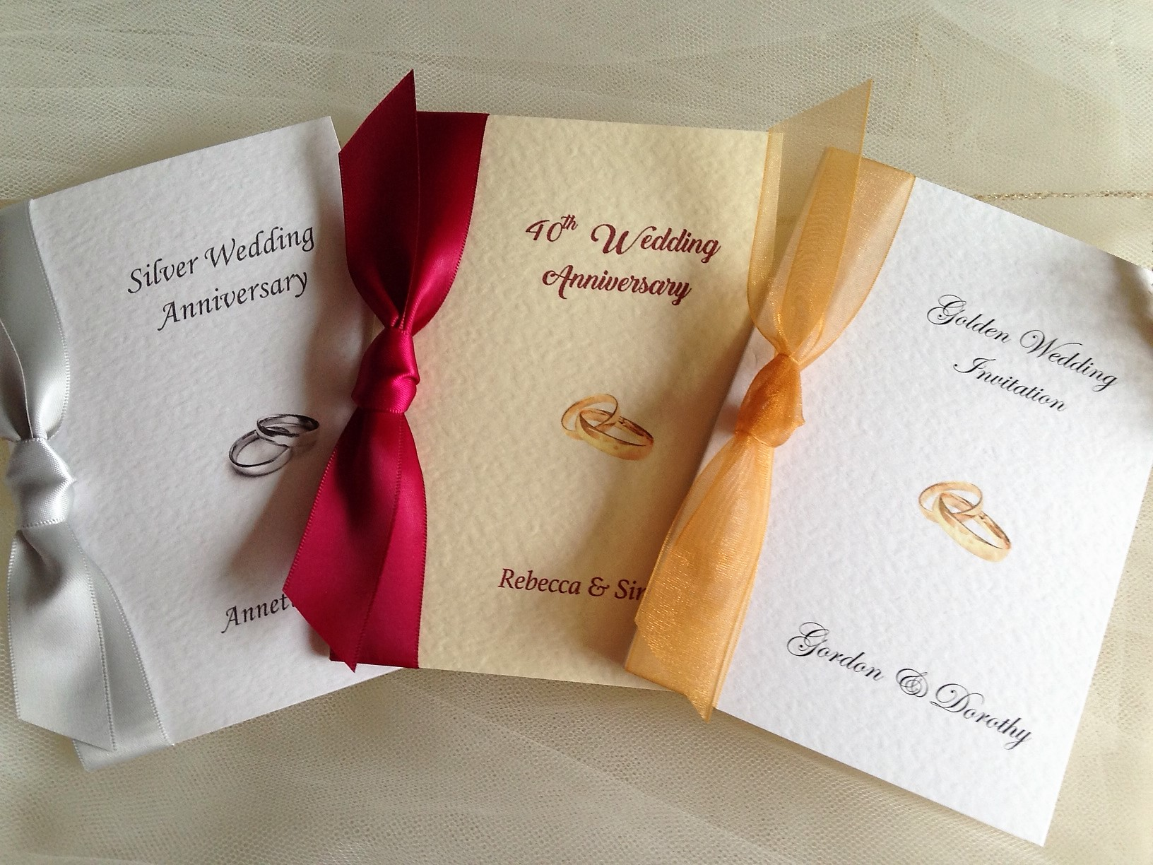 10th Wedding Anniversary Invitations: Rings Wedding Anniversary Invitations