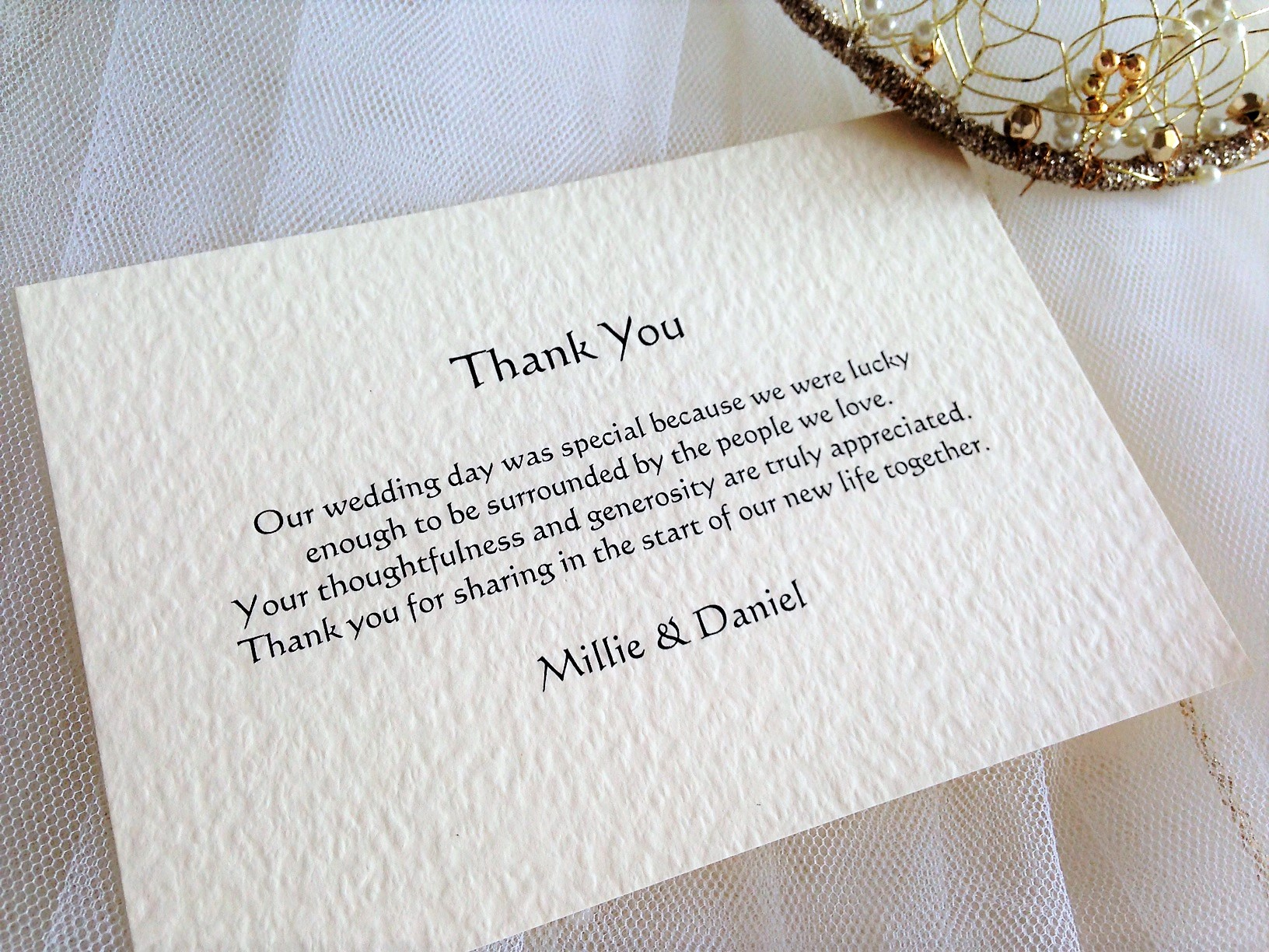 Single Sided Thank You Cards