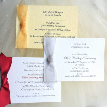 Single Sided Wedding Anniversary Invitations