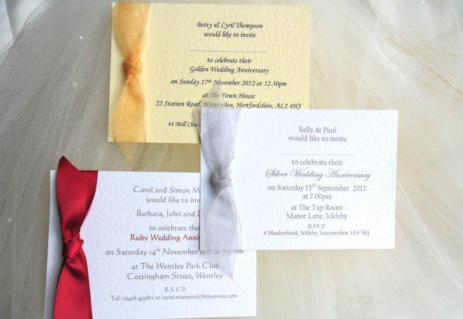 Single Sided Wedding Anniversary Invitations