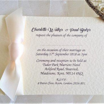 A6 Single Sided Wedding Invitations
