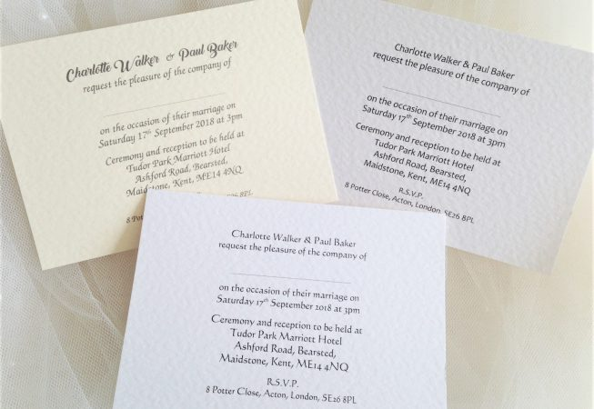 A6 Single Sided Wedding Invitations