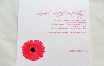 Square Birthday Invitation Cards