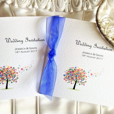 Love Tree Square Centre Fold Wedding Invitations