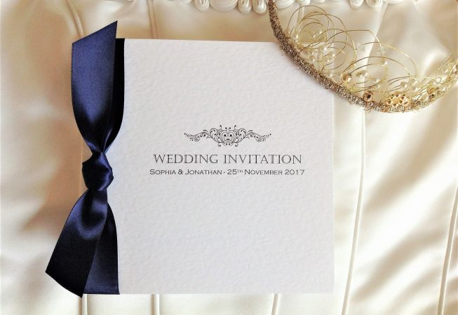 Motif Square Centre Fold Wedding Invitations