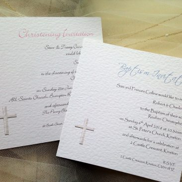 Square Christening Invitations